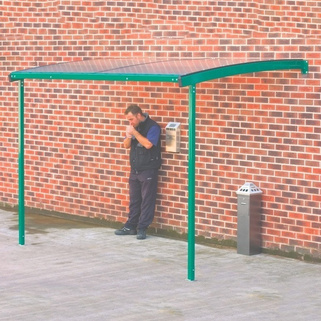 Smoking Shelter Wall Mounted-Large-Fixed to wall and floor