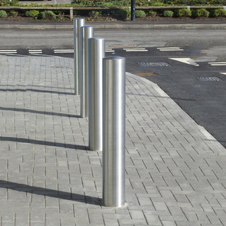 Bollard Stainless Steel Semi Dome – 1200mm Overall Length - 900mm above -Super Satin finish