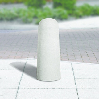 "Concrete  Bollard ""Woodhouse"" Fixed (Smooth Grey) from Marshalls. Low Maintenance"