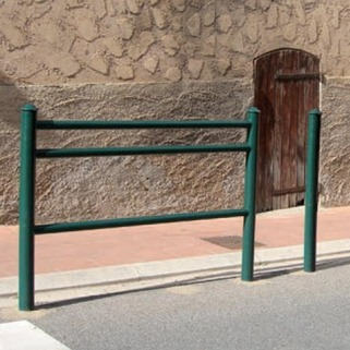 Railing  for separating pedestrian with traffic -Modern design-Meets Council requirements