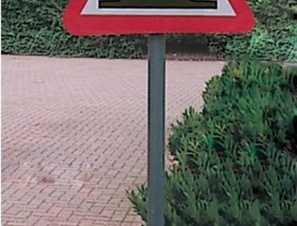 Mounting Post for Mirrors and Road Signs