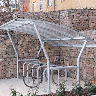 Cycle Shelter  Modular & Free-standing, single sided - Cambourne