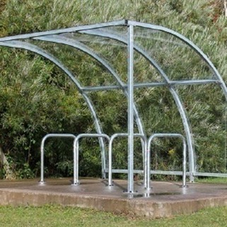 Stratford Cycle Shelter  Modular & Galvanised against rust. Easy to  Install