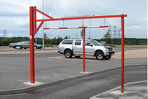 Height Restrictor Barrier -Swing Opening, Galvanised
