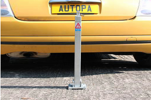 Parking Post-Square TOPLOK with padlock
