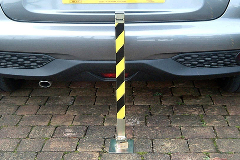 Parking Post-Fold Down-Tallboy-Zinc finish for anti-corrosion