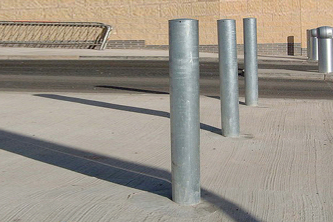Bollards Steel (60-193mm DIA) 1000mm above ground -Popular