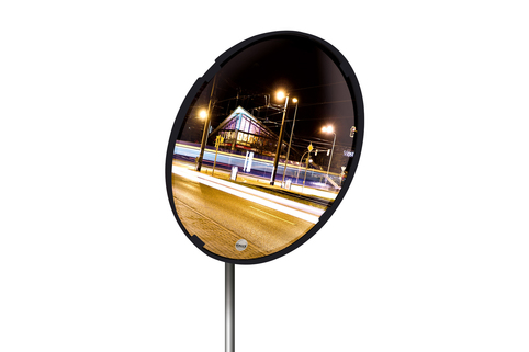 Convex safety & surveillance mirrors Black Framed - For indoor/outdoor - VIALUX®