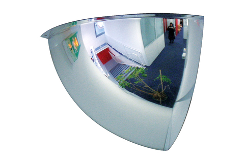 Surveillance Mirror Internal 90° to fit into any corner - incredibly strong