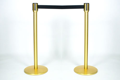 Tensabarrier® Slimline Post Pair in Satin Brass Effect Finish (17 pairs remaining)