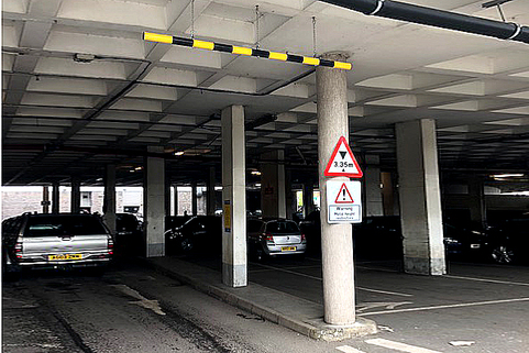 Height restriction bar , perfect solution for car parks or construction sites