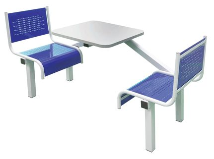 Canteen Furniture Spectrum - Fully Welded with Bright Seat Colour Choices