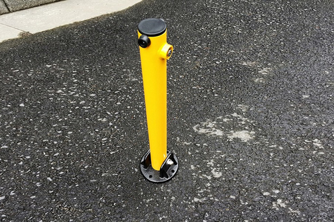Bollard Fold Down & surface mounted to protect your parking space or driveway.