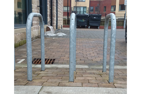 Cycle stand  Sheffield-Galvanised Root Fixed